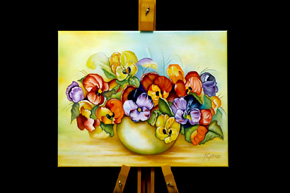 Pansies in a vase - ID Nummer: 278701